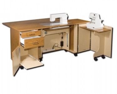 Dual Sewing Cabinets for Two Machines